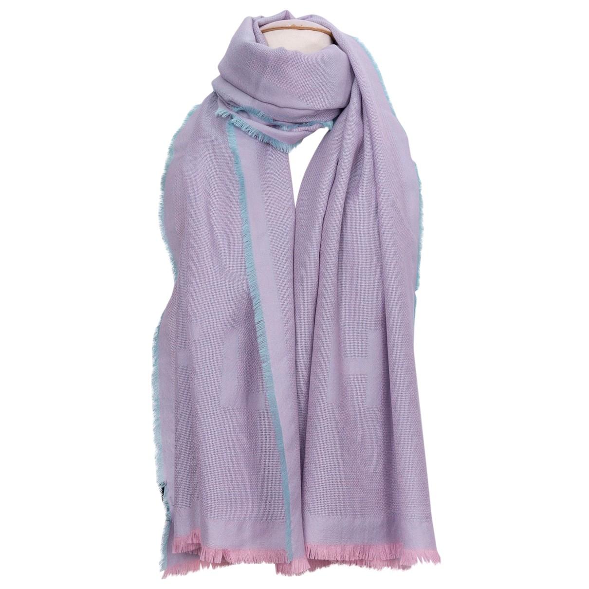 Chanel - Foulard   pour femme en cachemire - violet