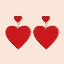 1 Paar Ohrringe mit Herzen Dekor