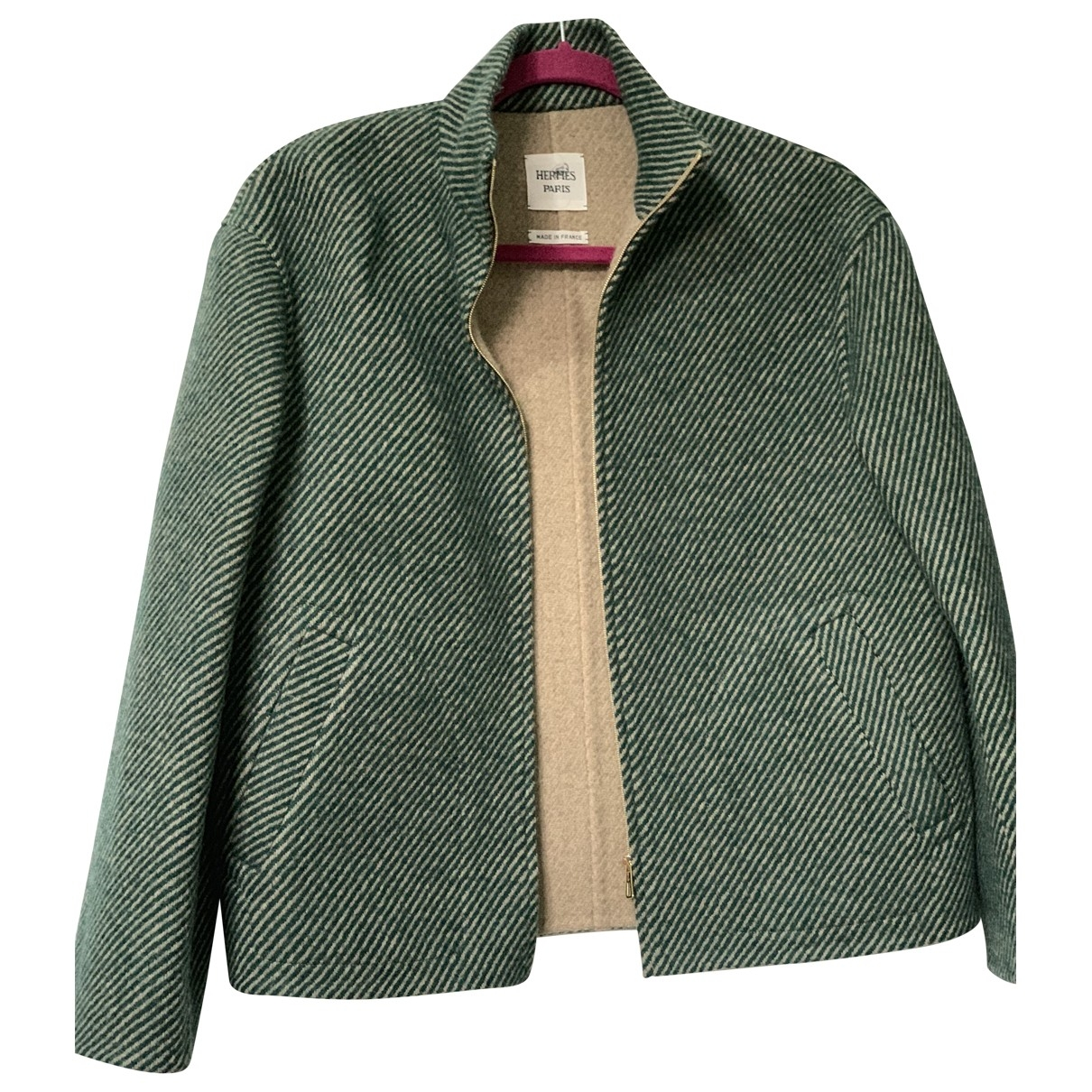Hermès \N Green Wool jacket for Women 34 FR