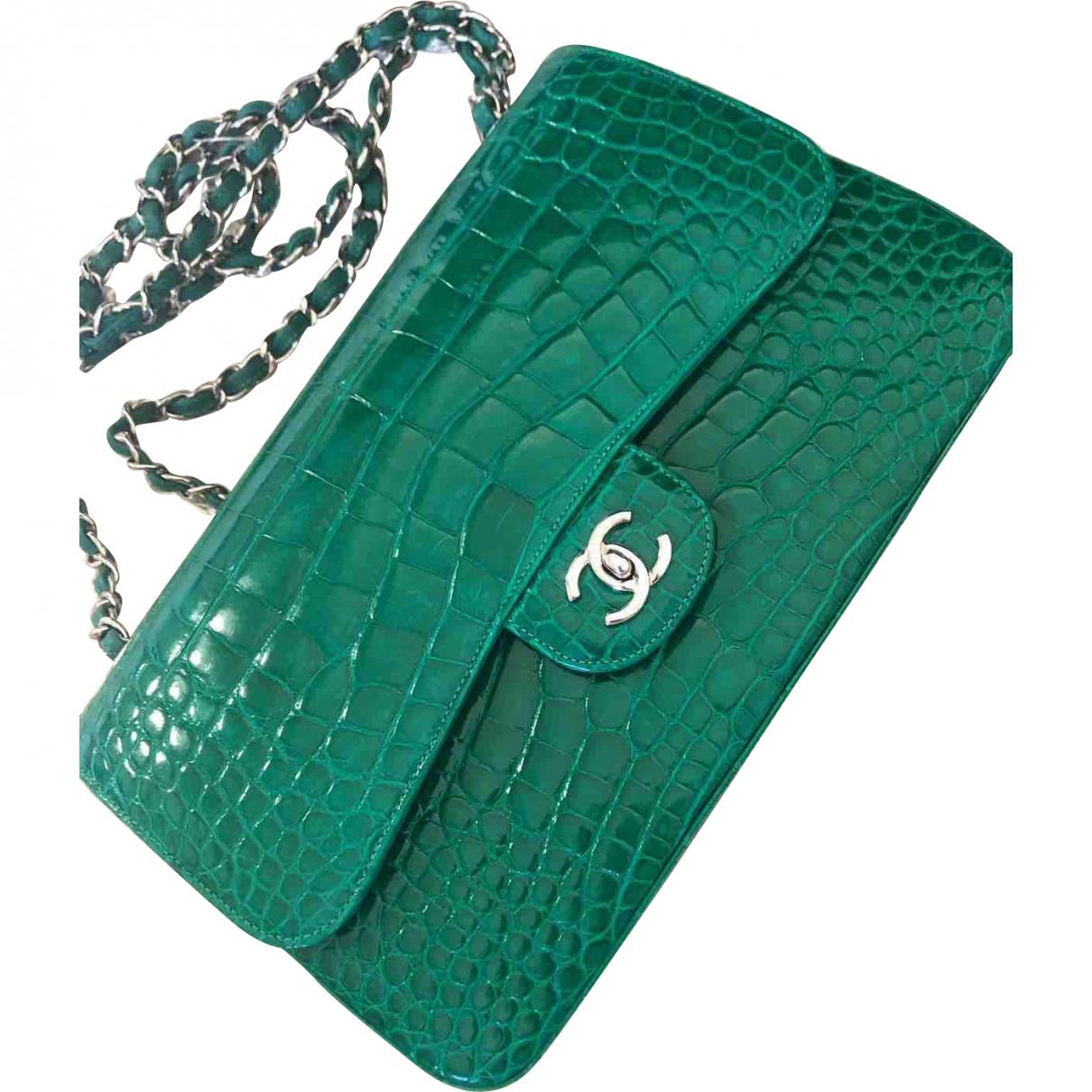 Chanel Timeless/Classique Green Alligator handbag for Women \N