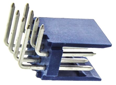 TE Connectivity , AMPMODU HE14, 8 Way, 2 Row, Right Angle PCB Header (10)