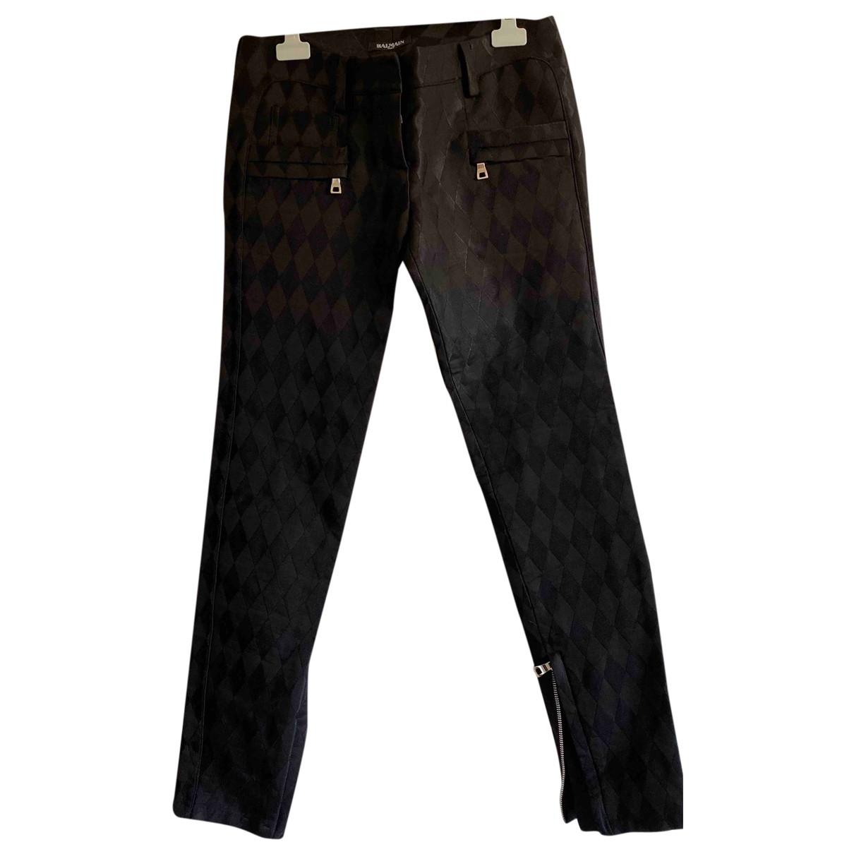 Balmain \N Black Trousers for Women 34 FR