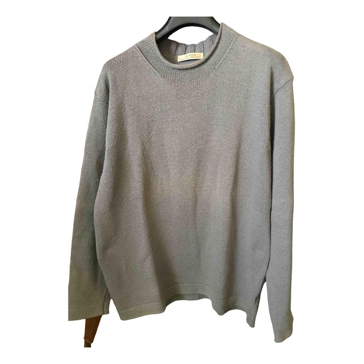 Non Signe / Unsigned \N Pullover.Westen.Sweatshirts  in  Grau Baumwolle