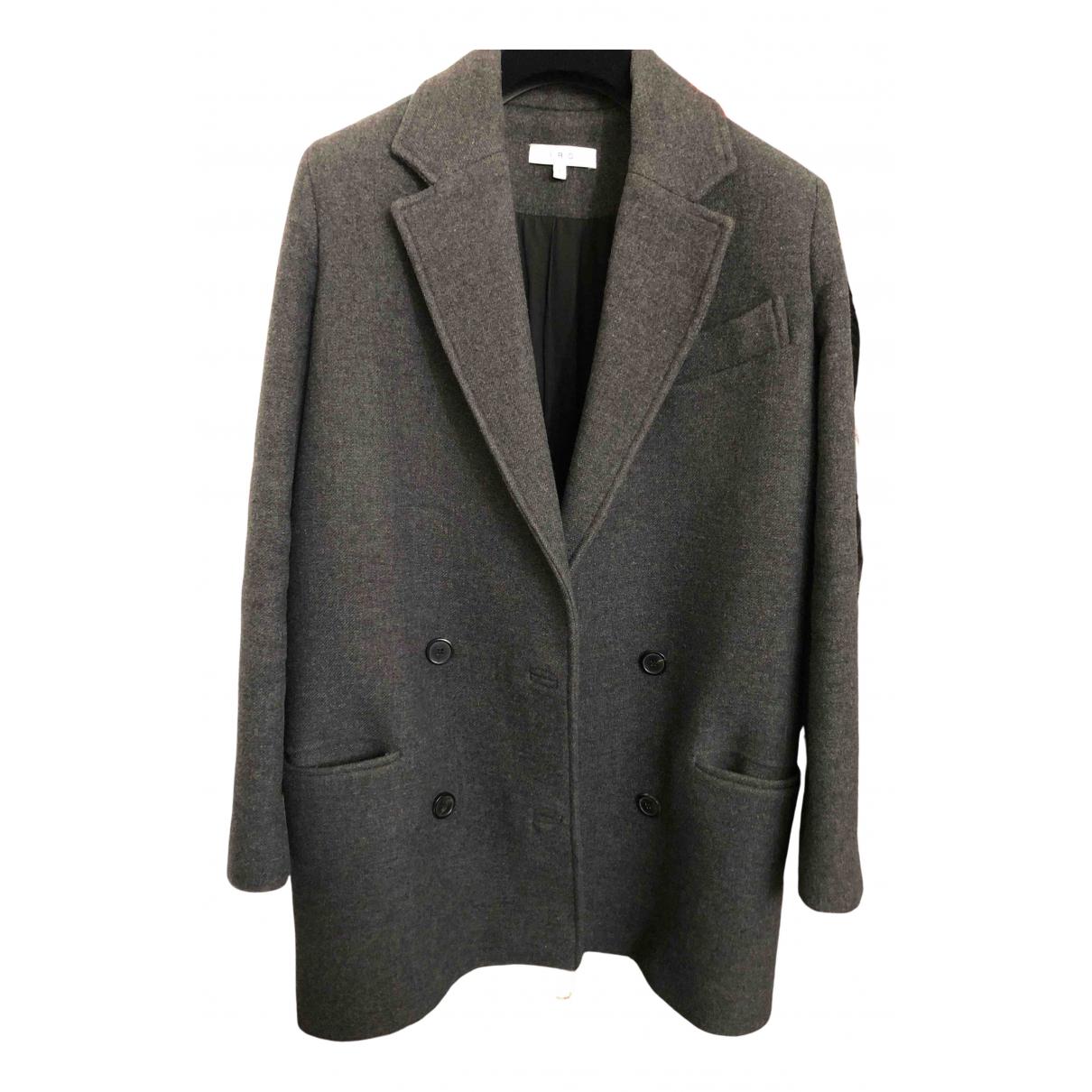 Iro \N Anthracite Wool coat for Women 36 FR