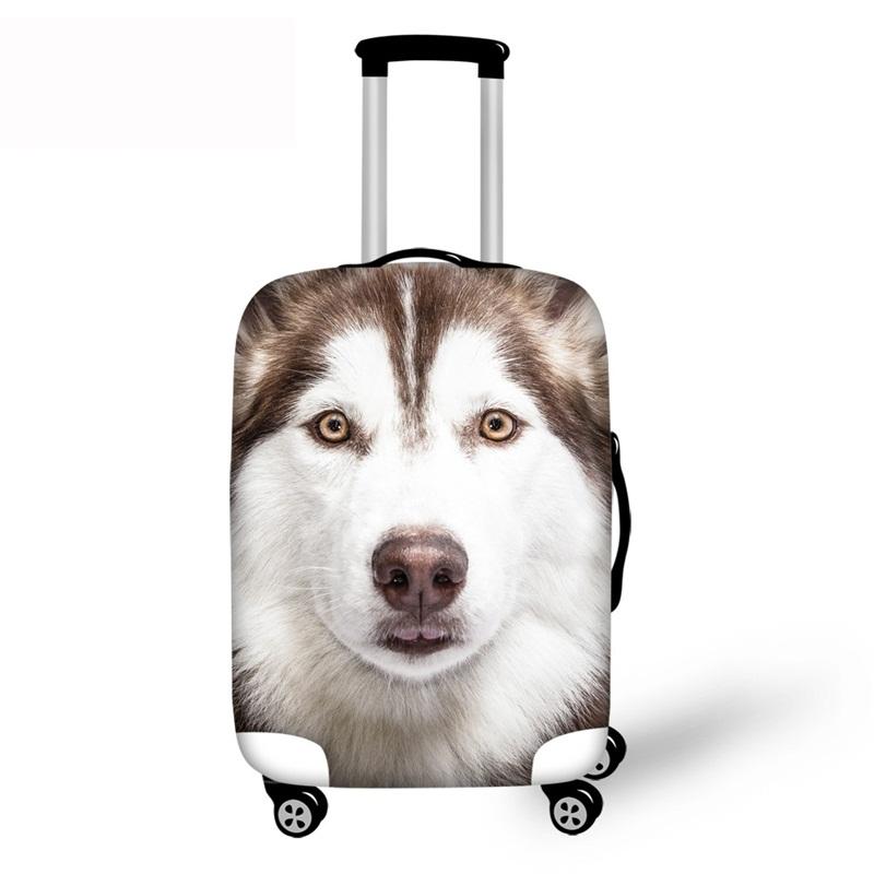 3D Cute Husky Pattern Waterproof Luggage Cover Protector 19 20 21