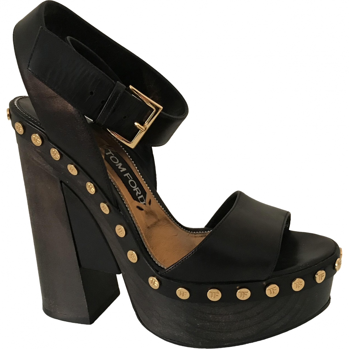 Tom Ford \N Black Leather Sandals for Women 39 EU