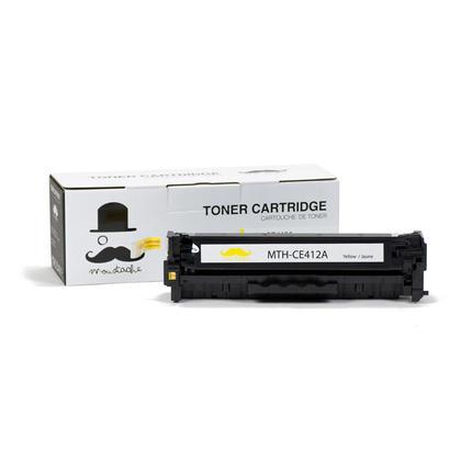 Compatible HP 305A CE412A cartouche de toner jaune - Moustache@ - 1/paquet