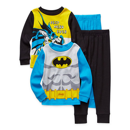 Toddler Boys 4-pc. Batman Pajama Set, 2t , Multiple Colors