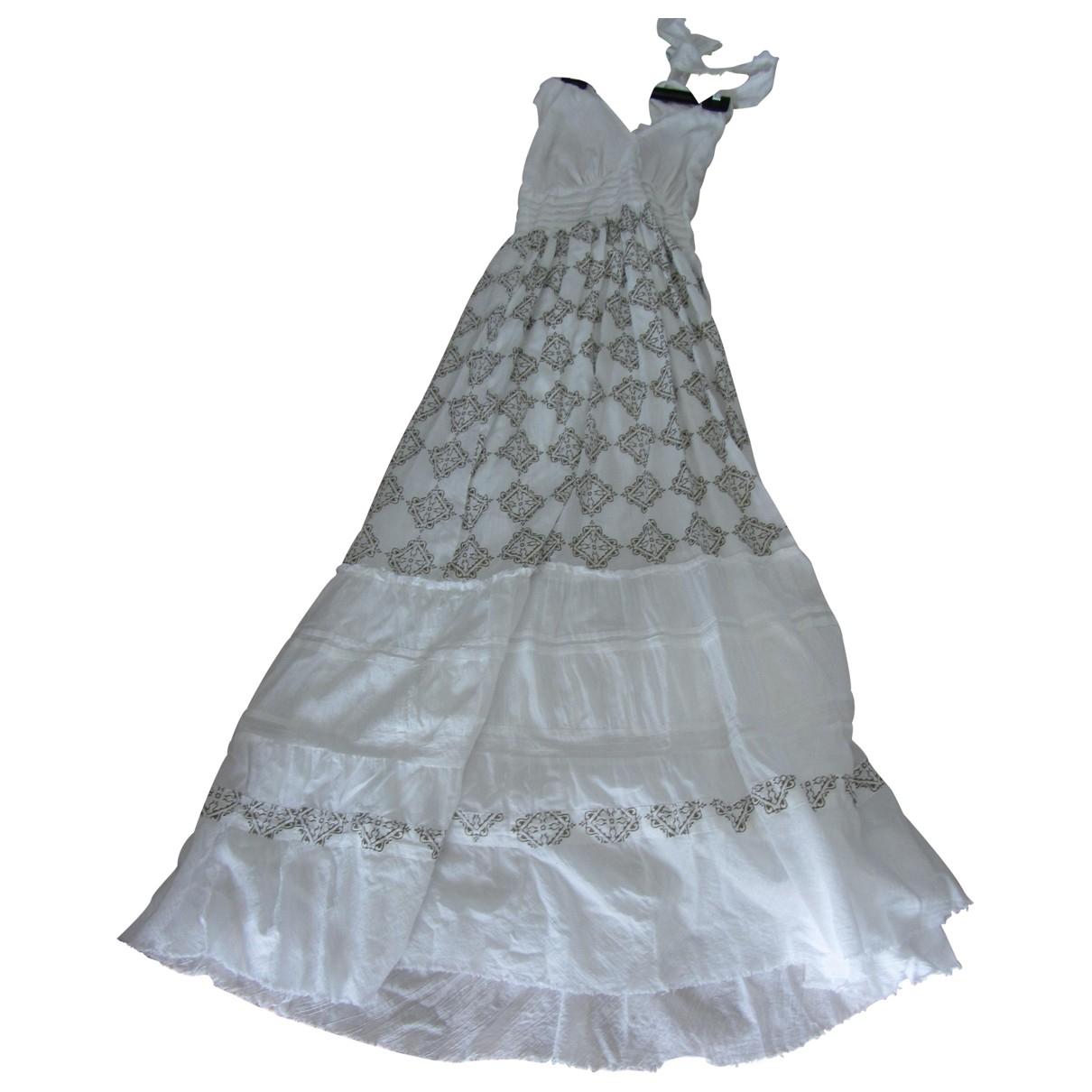 Dkny - Robe   pour femme en coton - blanc