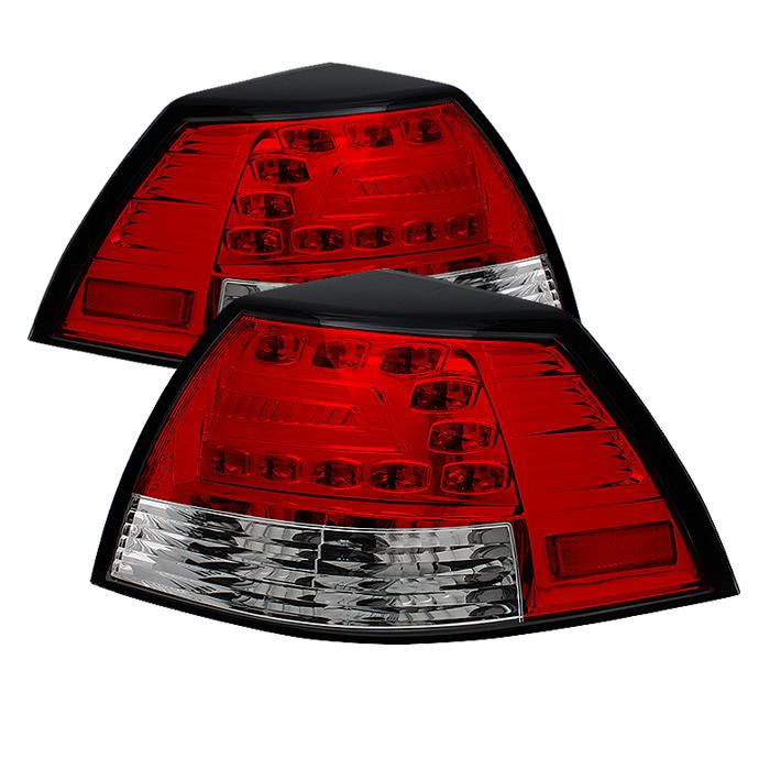 Spyder LED Red/Clear Tail Lights Pontiac G8 08-09