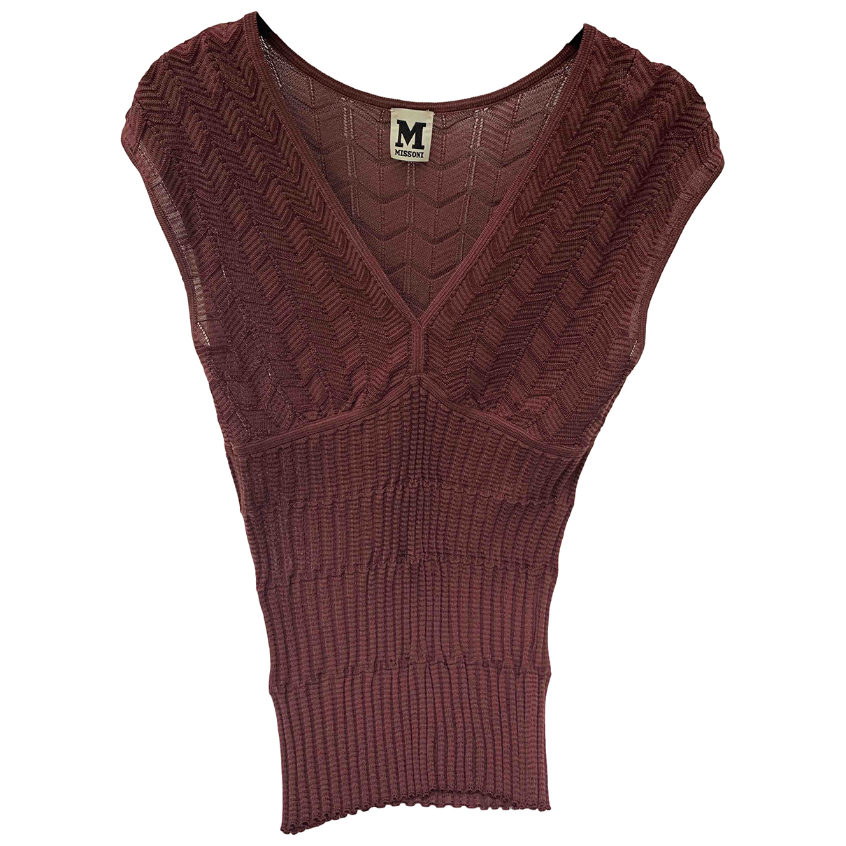 M Missoni N Burgundy  top for Women 38 IT