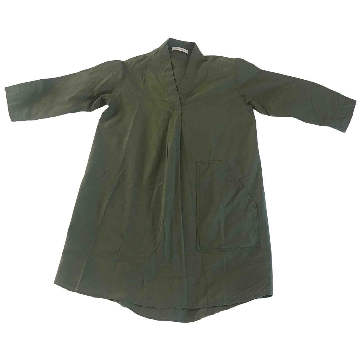 Cédric Charlier \N Khaki Cotton dress for Women 36 FR