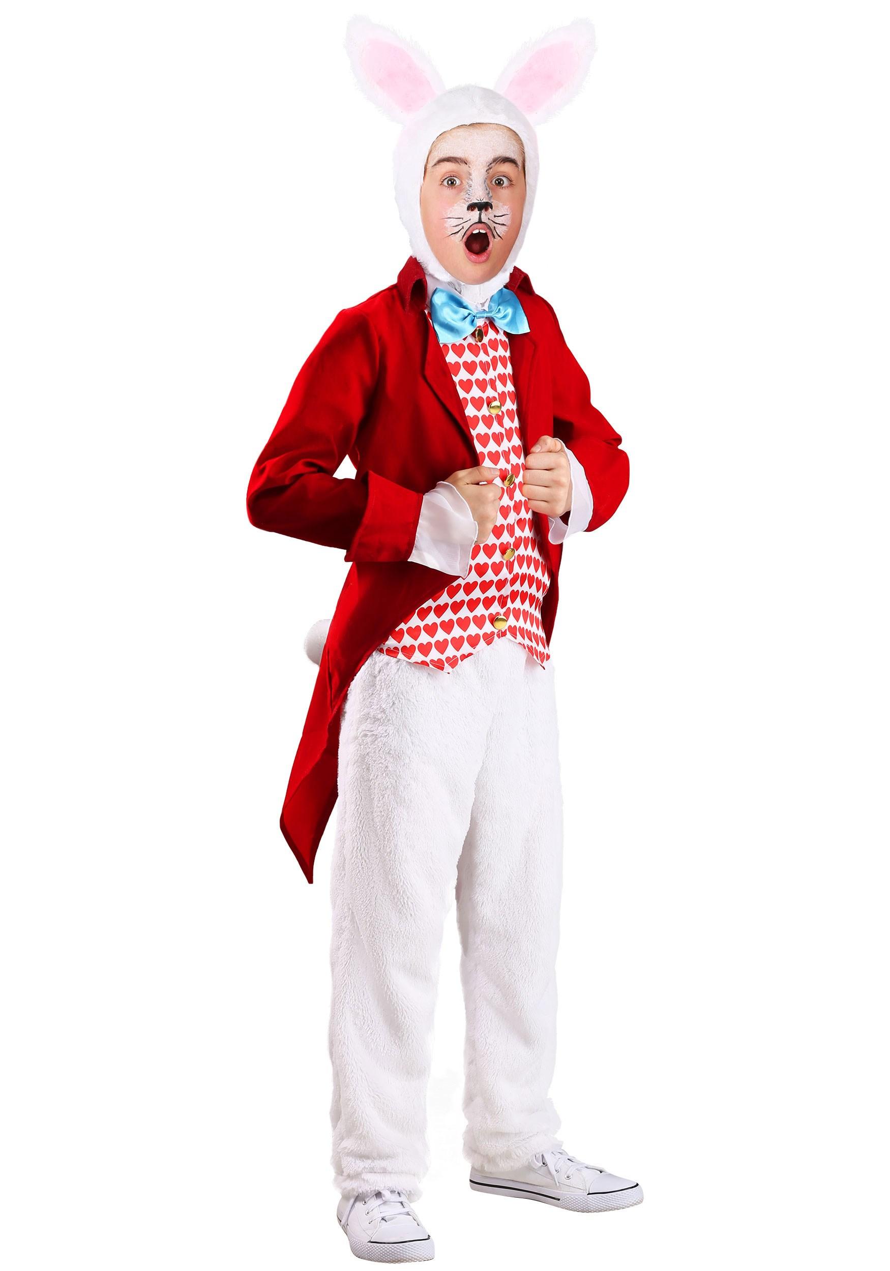 Kids Dignified White Rabbit Costume