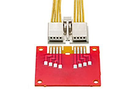 Molex , EDGELOCK Right Angle Female PCBEdge Connector, Straddle Mount Mount, 4 Way, 1 Row, 2mm Pitch, 3A (400)