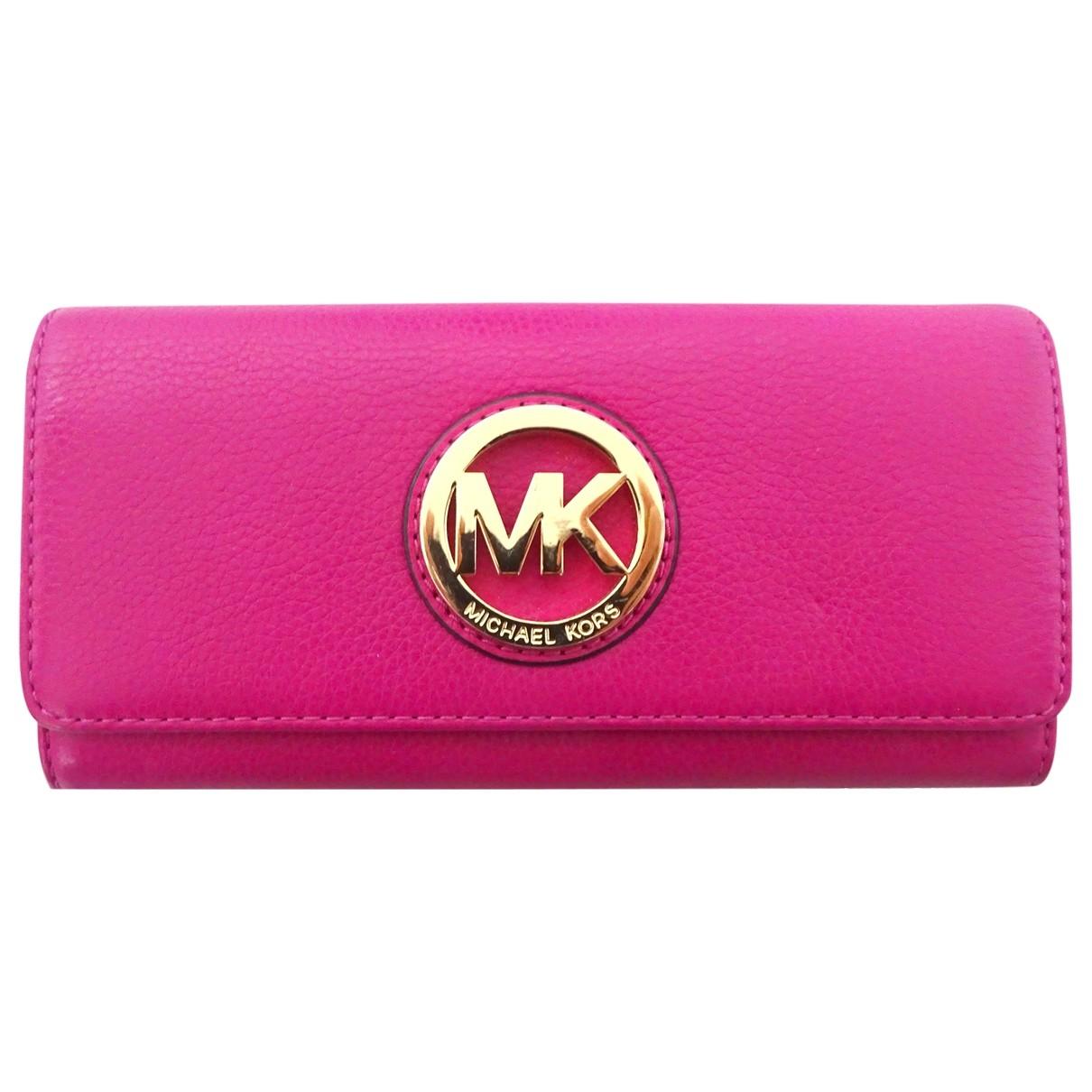 Michael Kors - Petite maroquinerie   pour femme en cuir - rose
