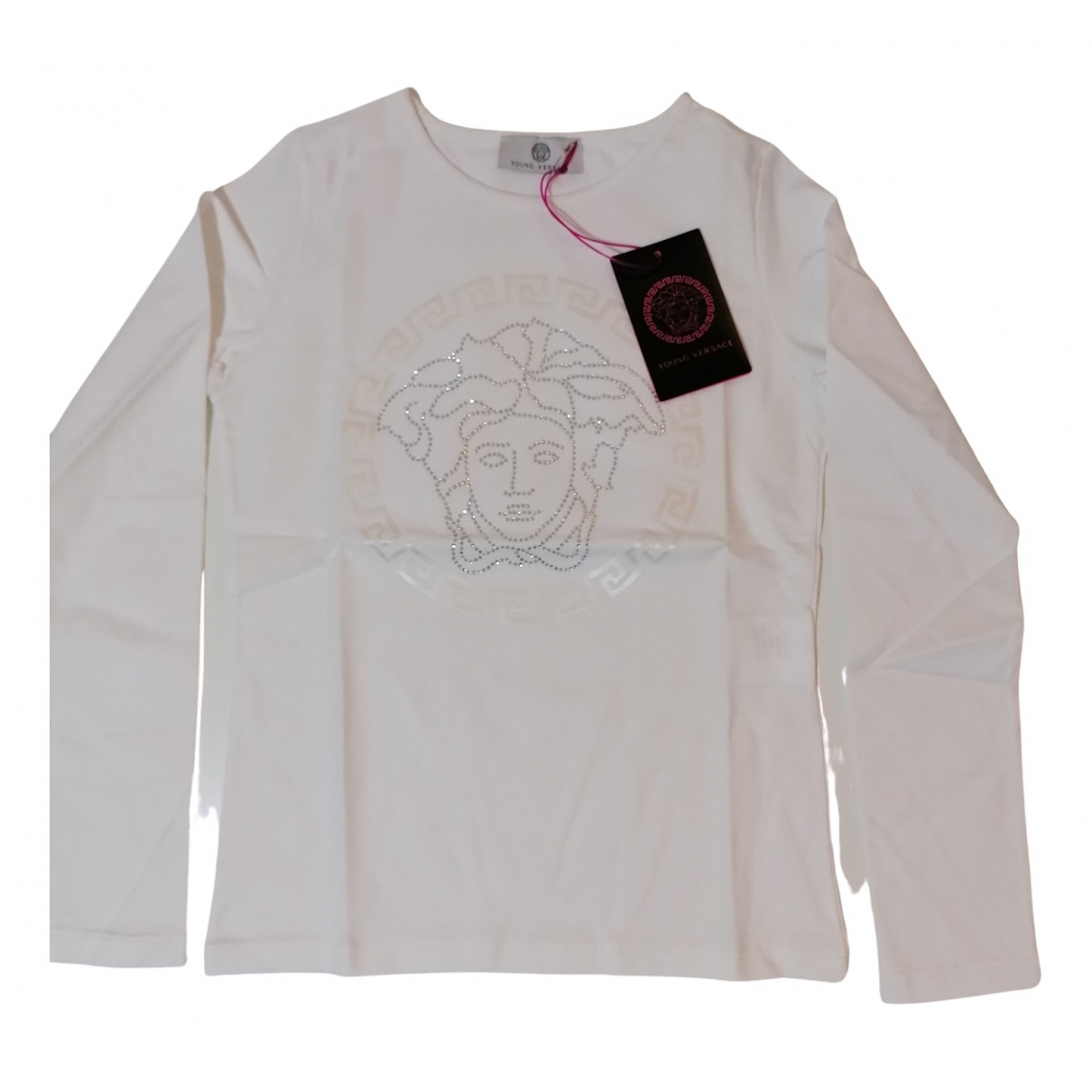Versace N White Cotton  top for Kids 6 years - up to 114cm FR