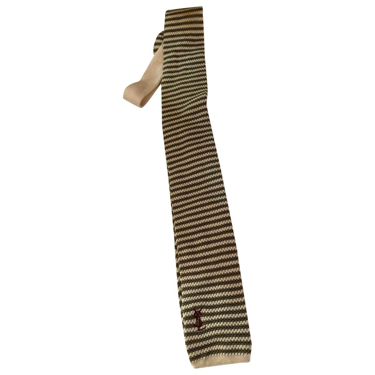 Yves Saint Laurent \N Green Cotton Ties for Men \N
