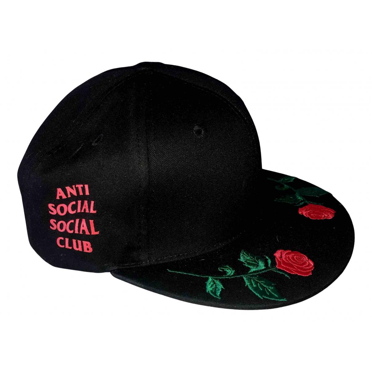 Anti Social Social Club N Black Cotton hat for Women M International