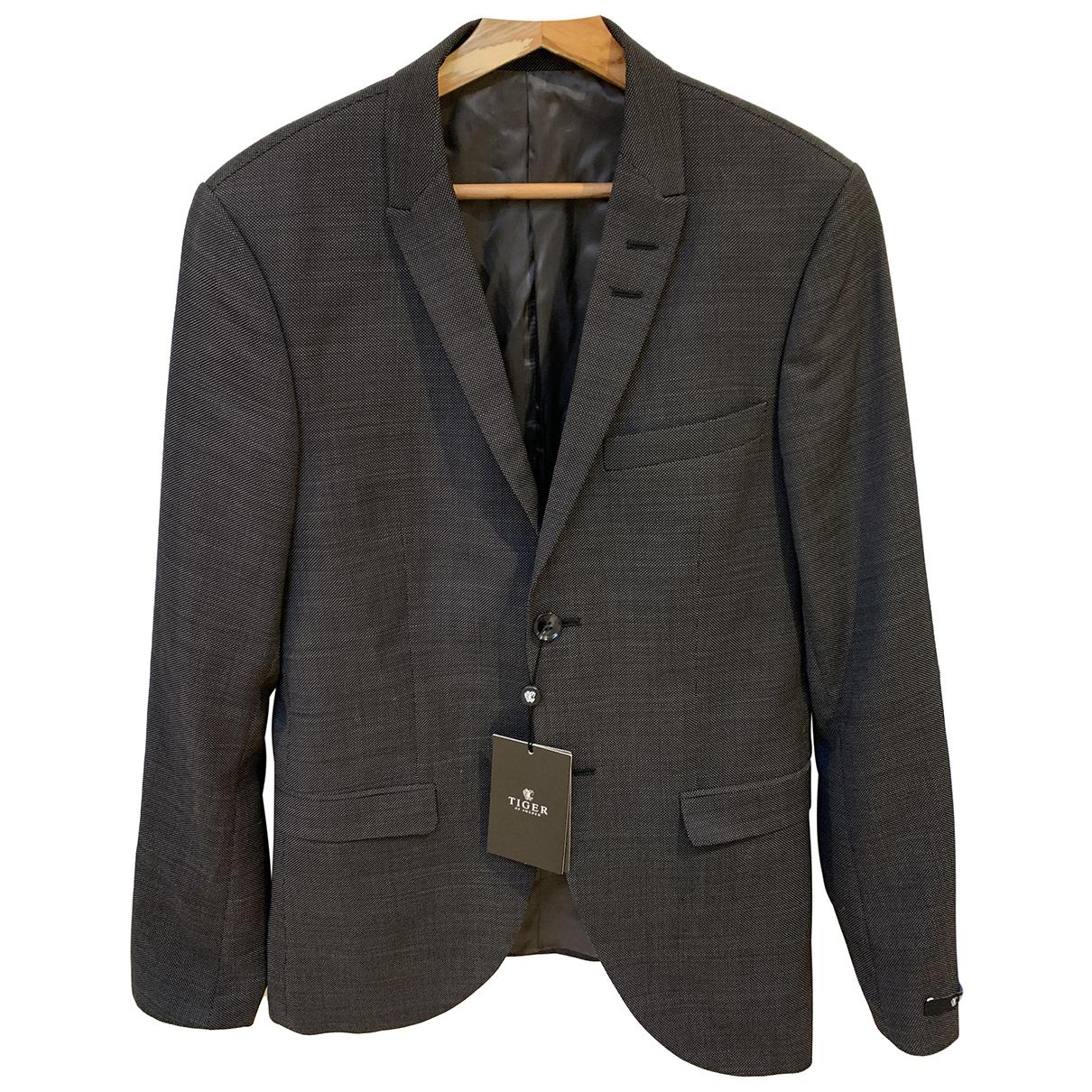 Tiger Of Sweden N Black Wool Suits for Men 46 IT