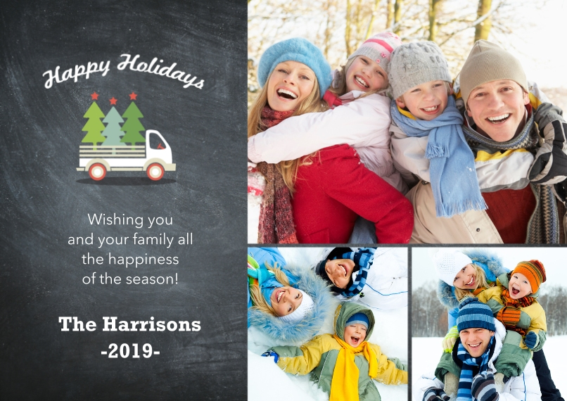 Holiday Photo Cards Flat Glossy Photo Paper Cards with Envelopes, 5x7, Card & Stationery -Truckful Of Trees