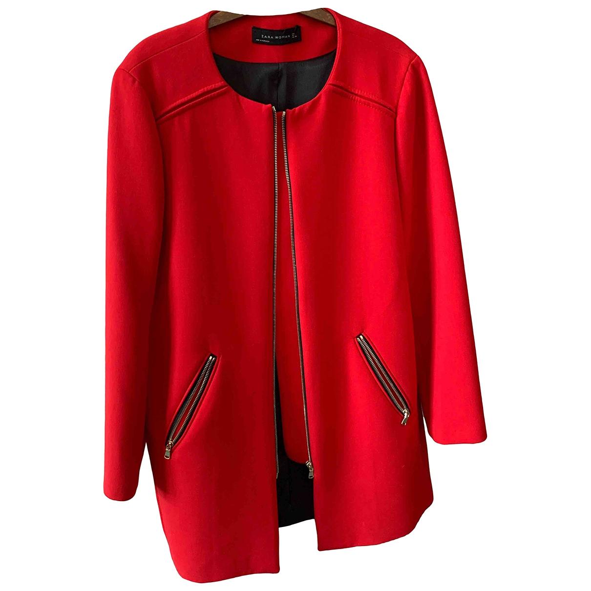 Zara \N Maentel in  Rot Polyester