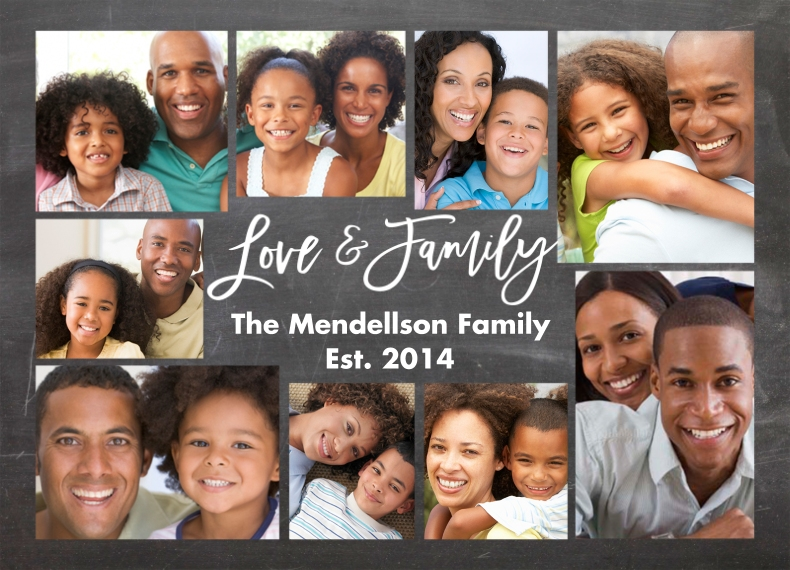 Family 10x14 Custom Puzzle, Gift -Family Love Collage by Tumbalina