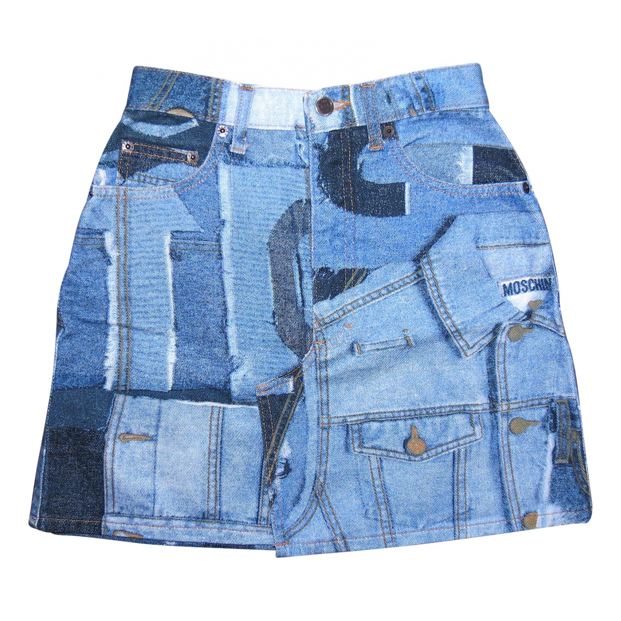 Moschino Cheap And Chic \N Blue Denim - Jeans skirt for Women 40 IT