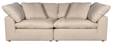 SU-1458SC-84-2C Cloud Puff Slipcover for 2 Piece Modular Large Loveseat - Sectional Sofa Cover -Performance Fabric  in