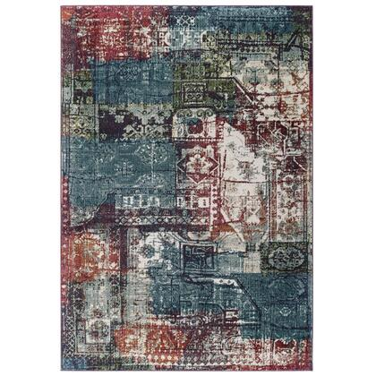 Tribute Collection R-1191A-58 Elowen Contemporary Modern Vintage Mosaic 5x8 Area Rug in Multicolored