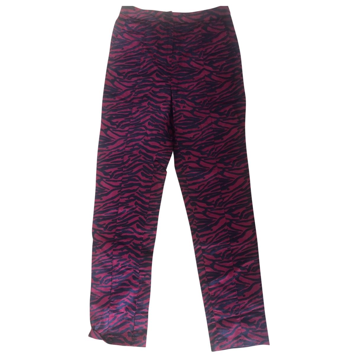 Pantalon recto Weili Zheng