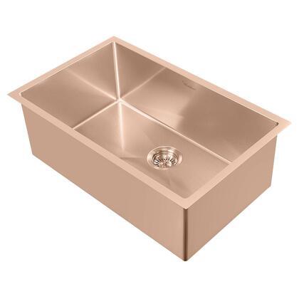 WHNPL2918-CO Noah Plus 16 gauge Single Bowl Linen Textured Dual-Mount Sink