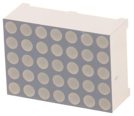 Kingbright TA07-11SURKWA  Dot Matrix LED Display, CA 7 x 5 Dot Matrix Red 90 mcd 17.2mm