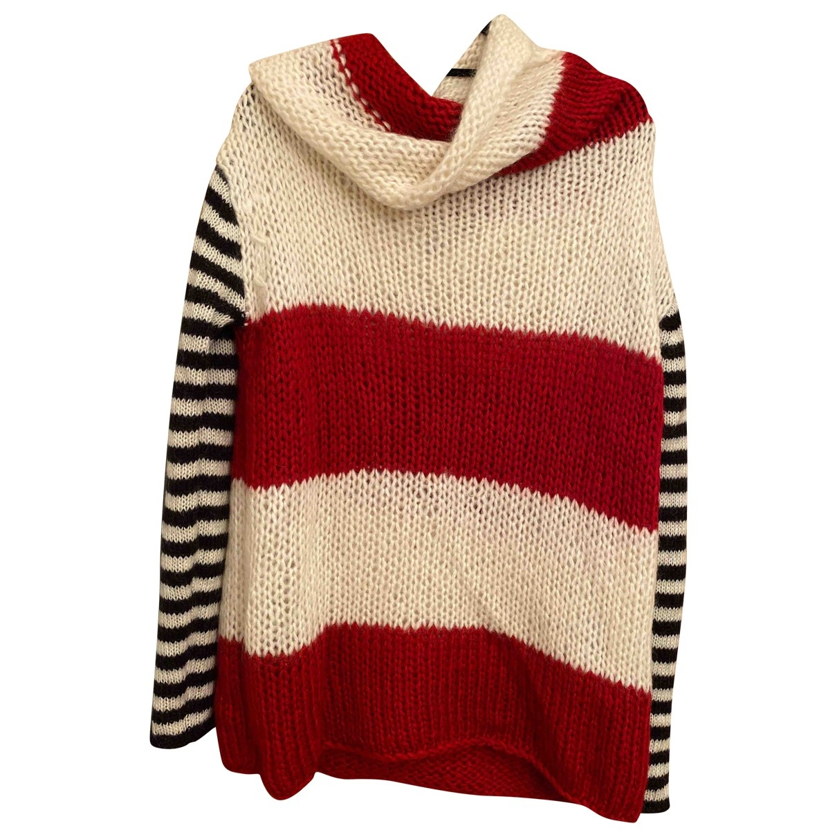 Non Signe / Unsigned \N Pullover in  Rot Polyester