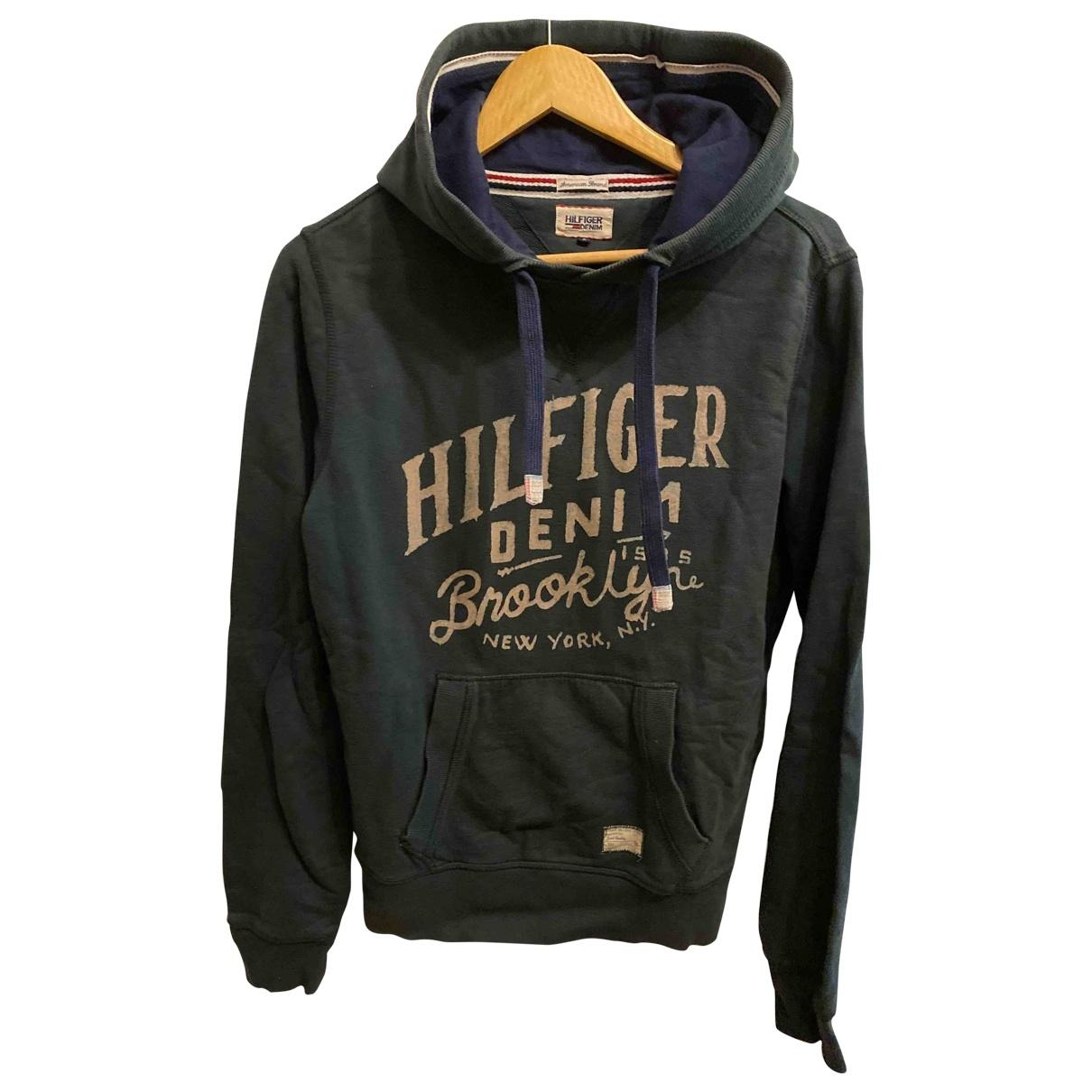 Tommy Hilfiger - Pulls.Gilets.Sweats   pour homme en coton - vert