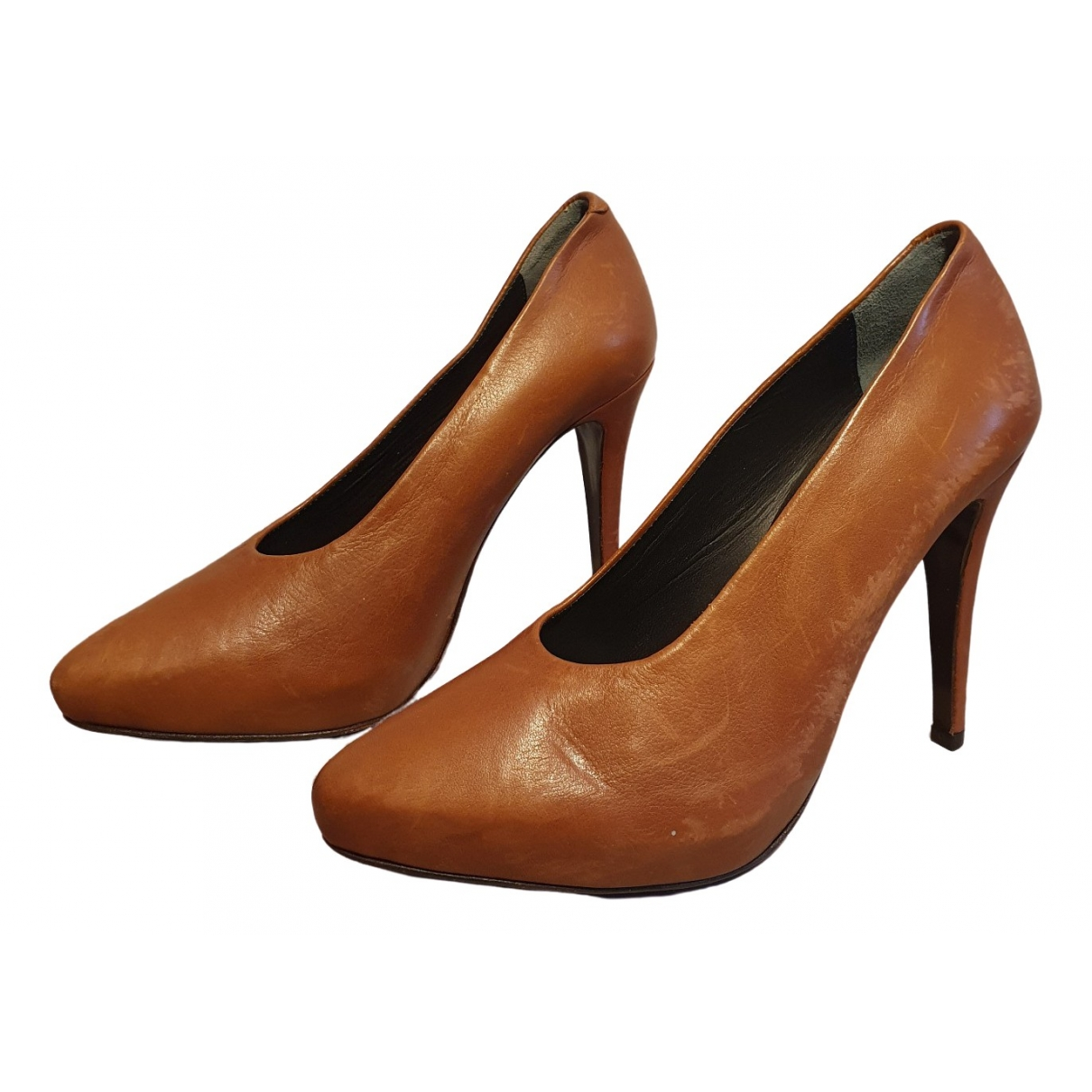 Rodebjer \N Brown Leather Heels for Women 36 EU