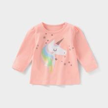 Toddler Girls Unicorn & Star Print Tee