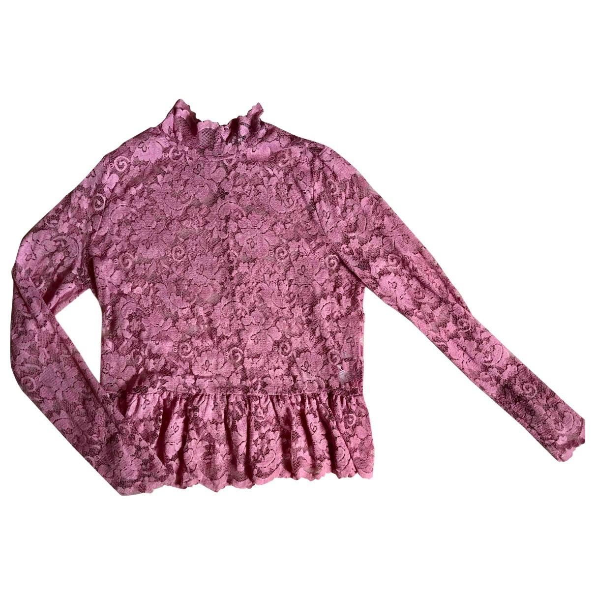 Ganni - Top   pour femme - rose