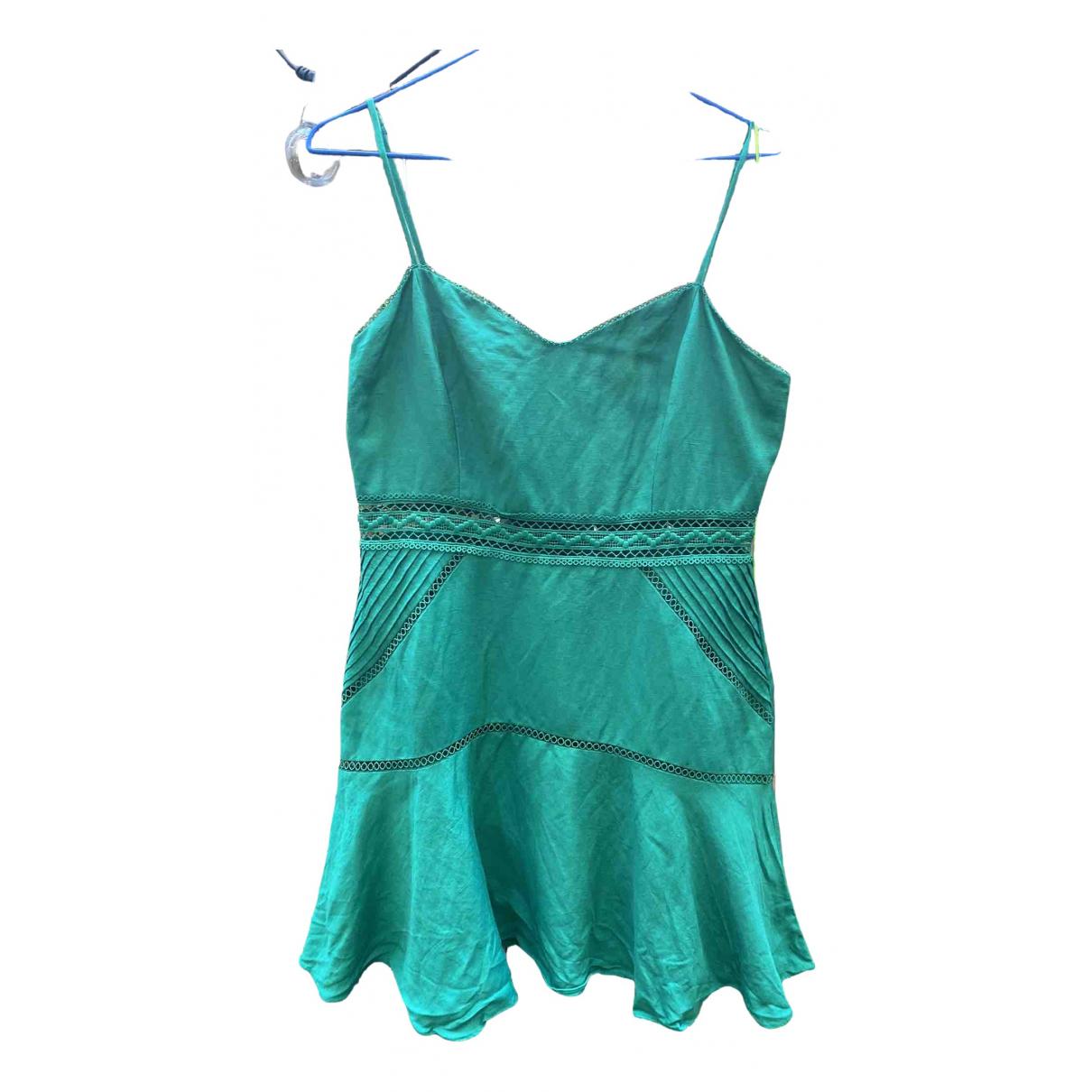 Non Signe / Unsigned \N Kleid in  Gruen Leinen
