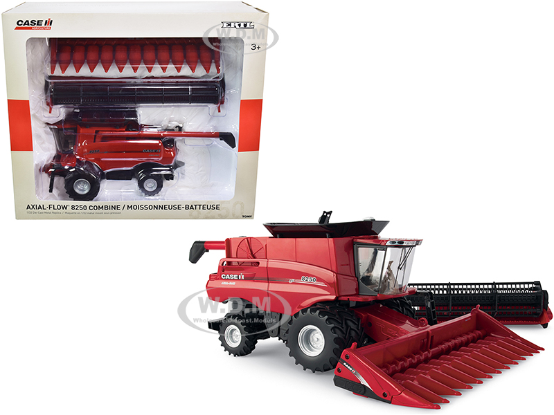Case IH Axial-Flow 8250 Combine with Draper Head and Corn Head