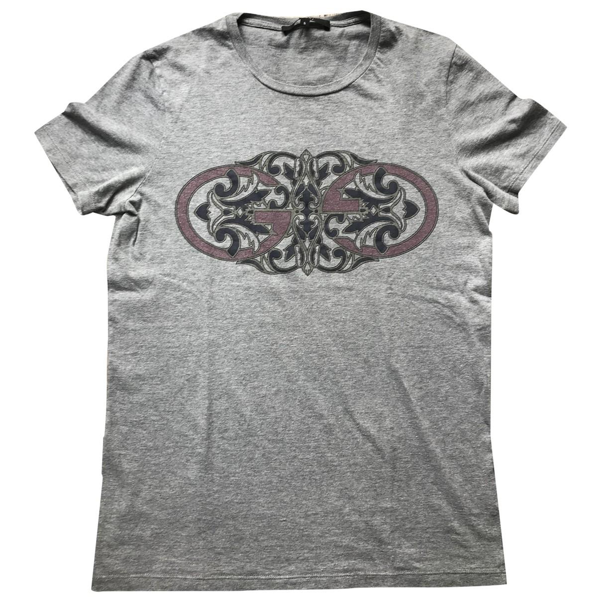 Gucci - Tee shirts   pour homme en coton - gris