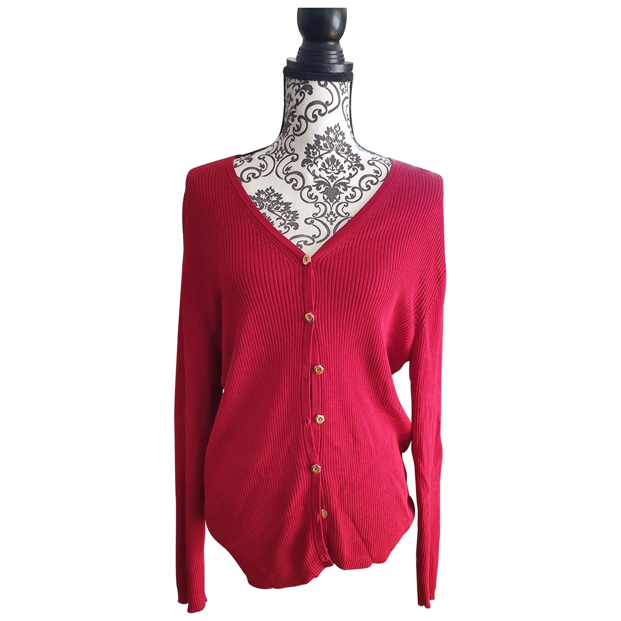Non Signé / Unsigned \N Red Silk Knitwear for Women 44 FR