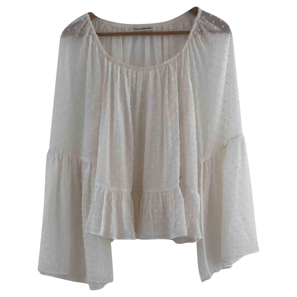 Ulla Johnson - Top   pour femme en soie - blanc
