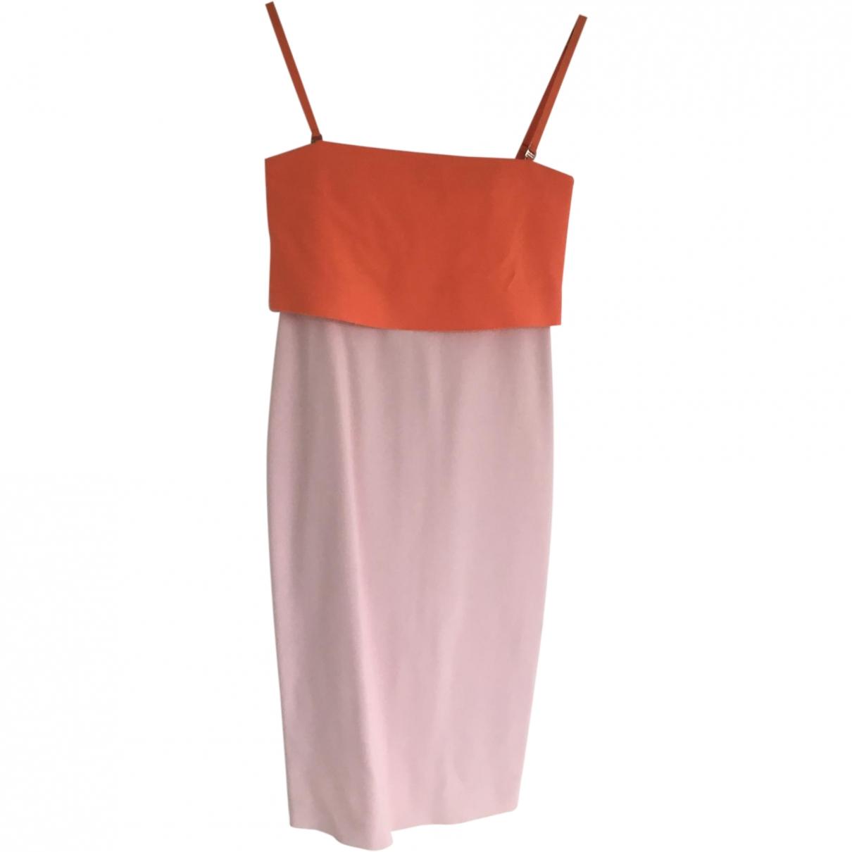 Sport Max \N Pink Cotton - elasthane dress for Women 6 UK