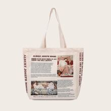 Newspaper Design Tote Bag