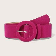 Cinturon con hebilla redonda