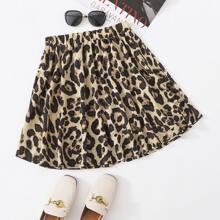 Allover Print Flared Skirt