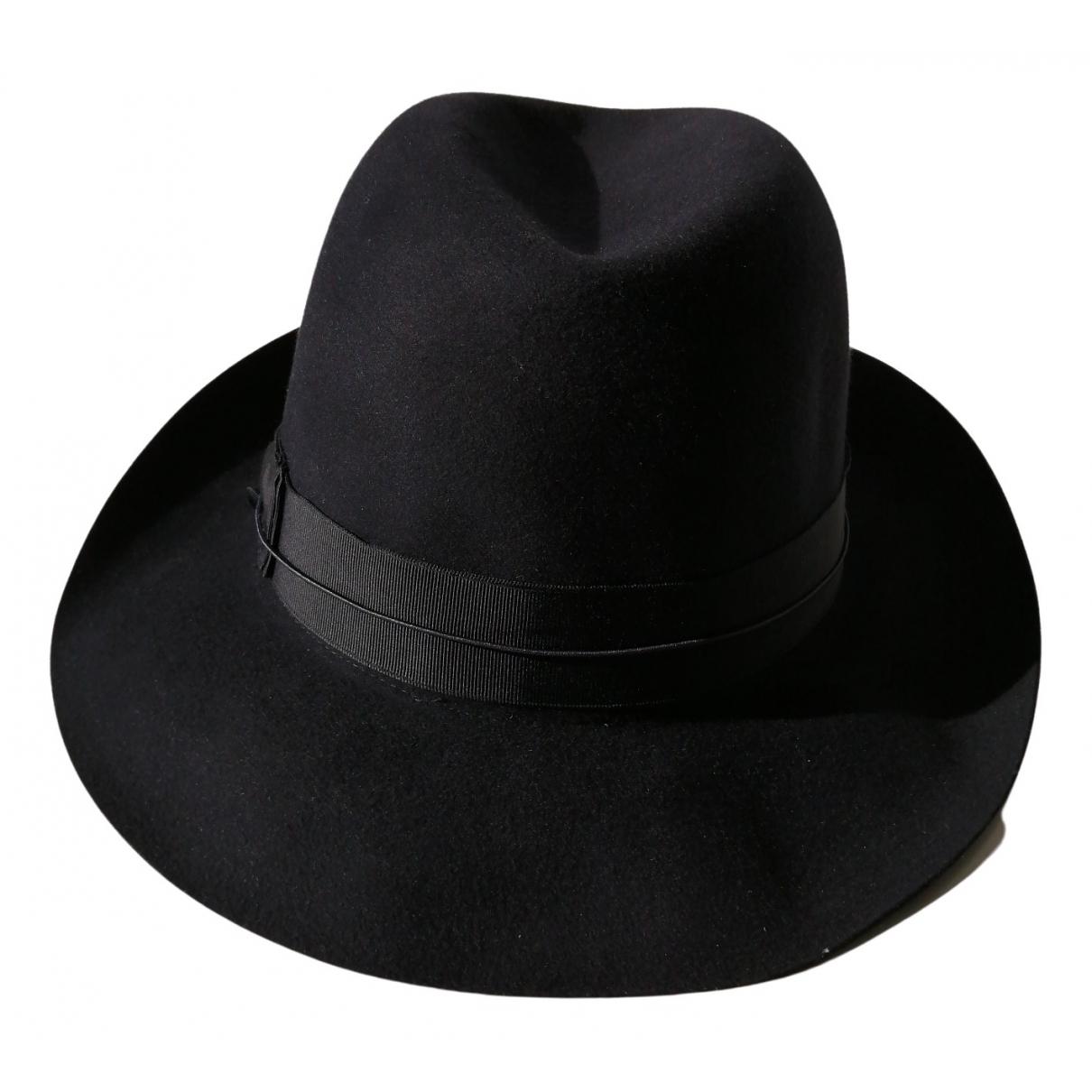 Borsalino \N Black Cashmere hat & pull on hat for Men 60 cm