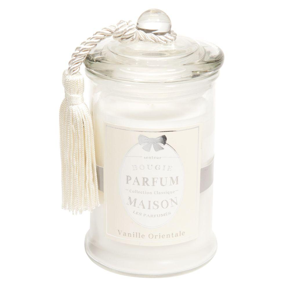 Duftkerze im Glas CLASSIQUE Vanille, H 15 cm, weiss