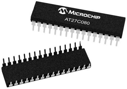 Microchip AT27C080-90PU, EPROM 8Mbit 1M x 8 bit 90ns 32-Pin PDIP