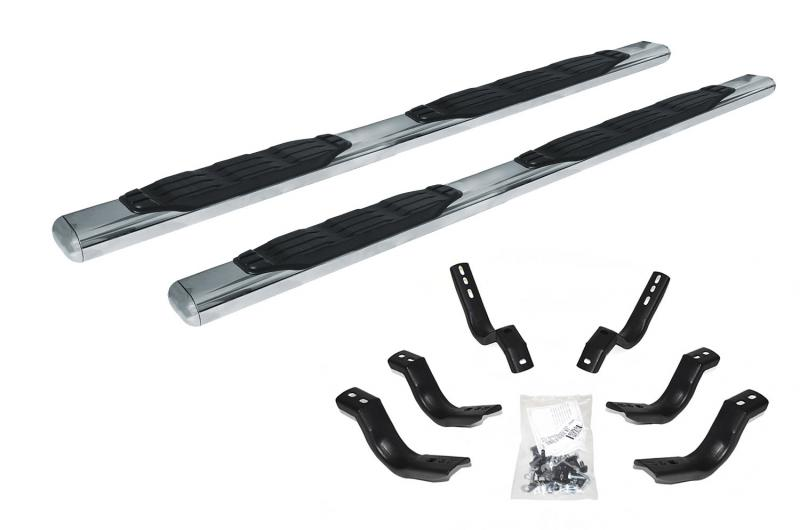 Go Rhino 105412687PS 1000 Series Cab length - Polished Stainless Bars + Brackets Ford